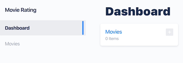 Keystone.js Movie Rating App Dashboard