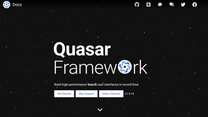 Quasar homepage.
