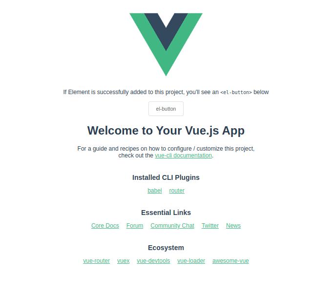 Vue Plus Element UI Default Page