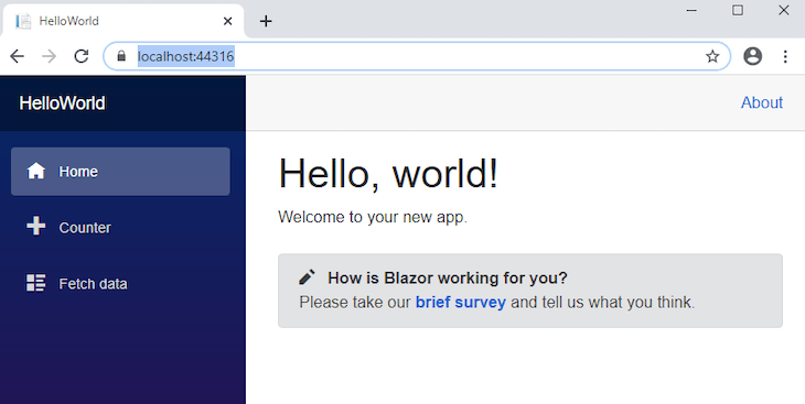 Basic Blazor Project Example