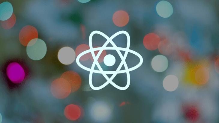 The React logo.