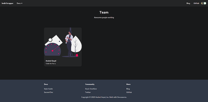 Docusaurus Custom Page Example