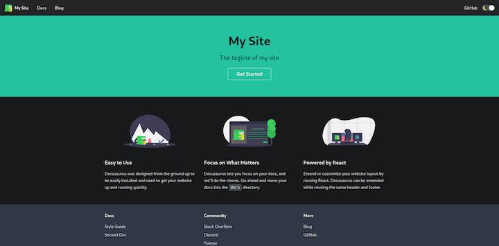 Docusaurus Homepage Example