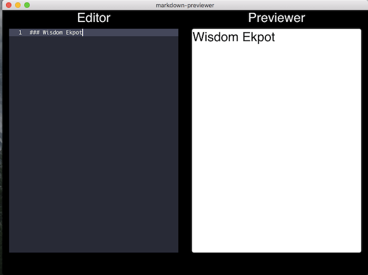 Header Elements in Editor