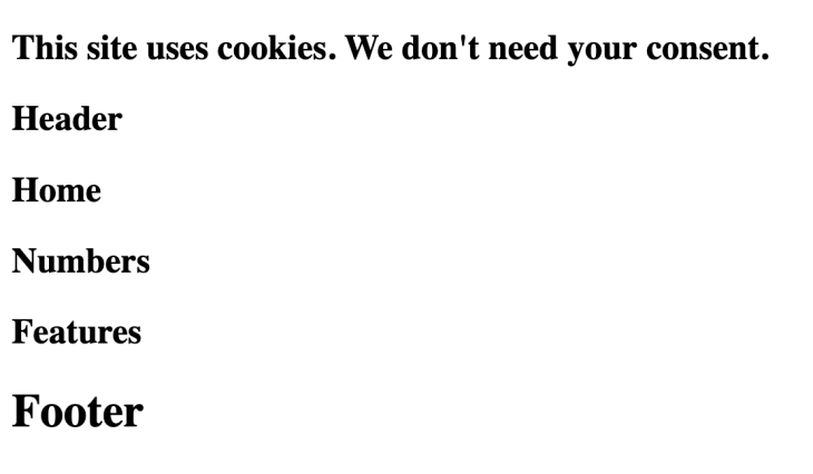 text stating the site uses cookies.