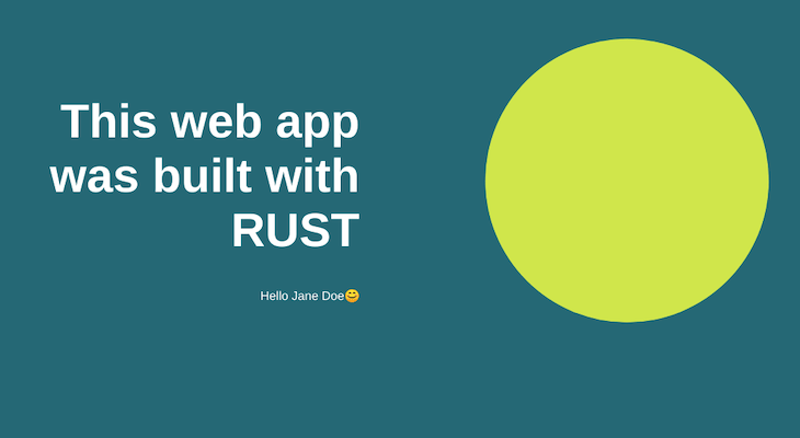 Our Finished Rust Web App