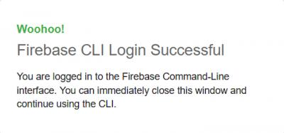 Firebase CLI Login