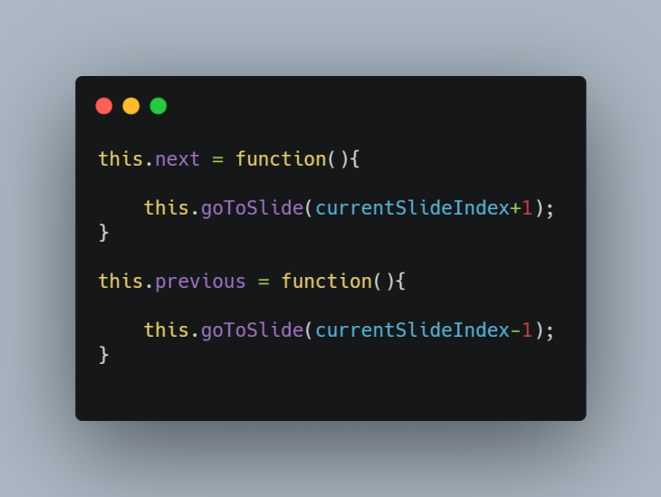 A code snippet.