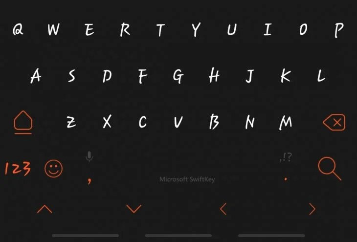 Android swiftkey search display.