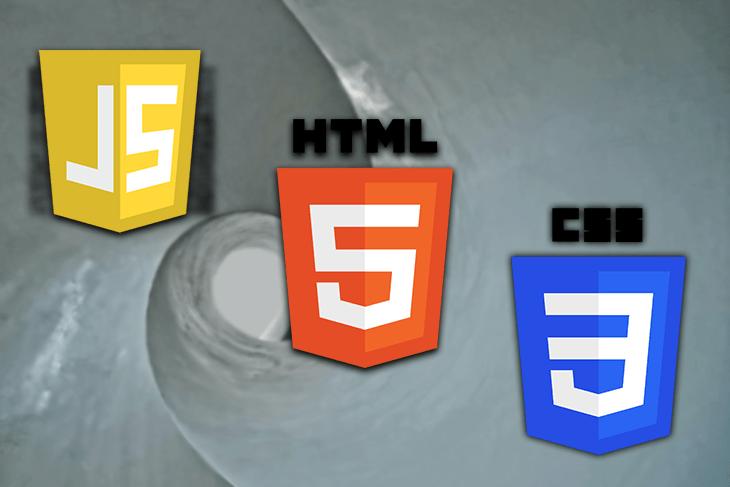 JavaScript, HTML, CSS logos.