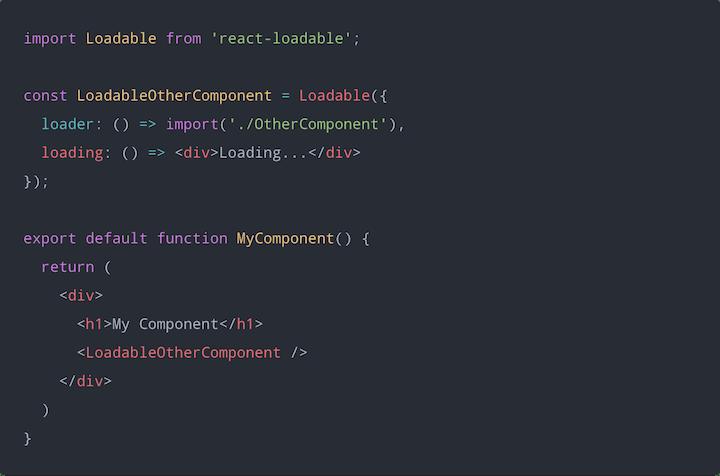react-loadable Example