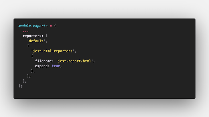 Adding Reporter to Our Configs File