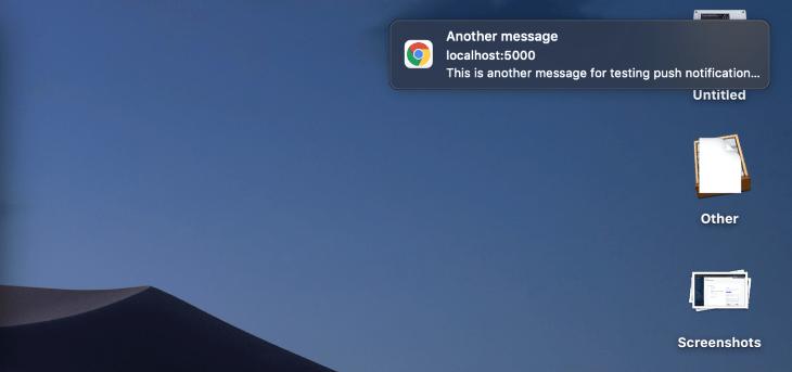 Default Notification