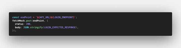 Mocking a Login API Call