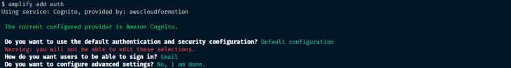 Option to Choose Default Config
