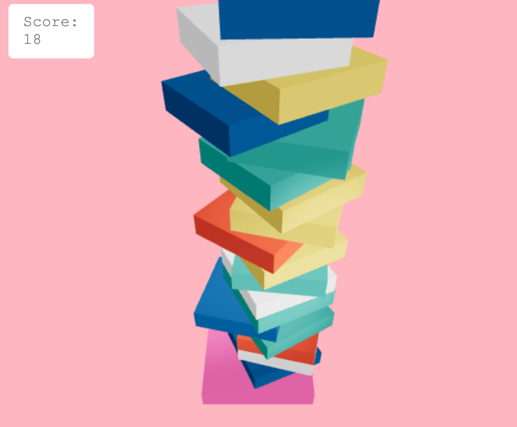 Stack of cubes on top of each other
