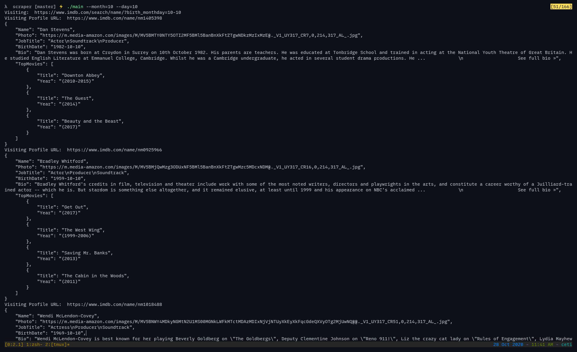 running web scraper