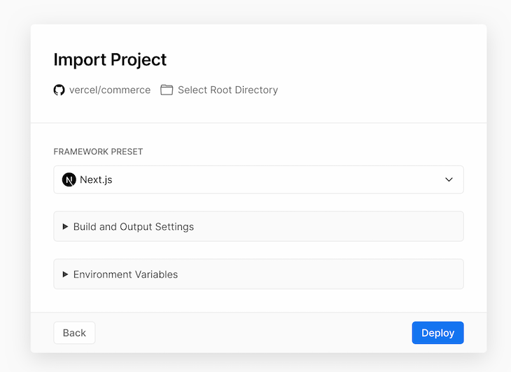 Create Git Repository Import Project