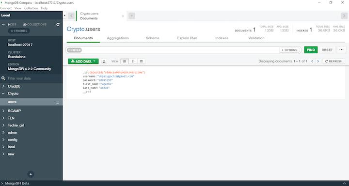 Node.js crypto: Password in Plaintext