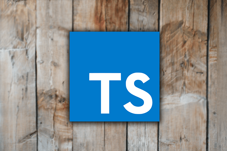 Typescript Logo Over a Wooden Fence Background