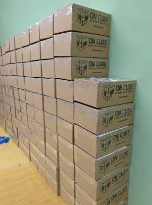 Pedidos da On Cube prontos para o envio