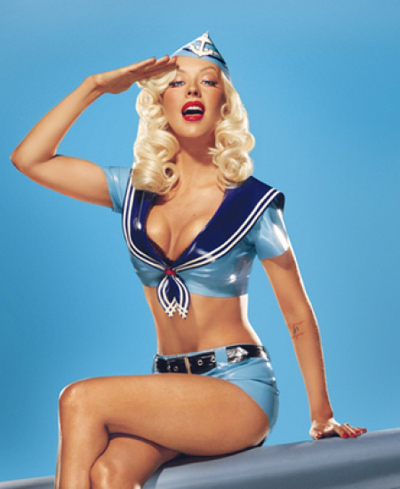 Christina Aguilera pin up