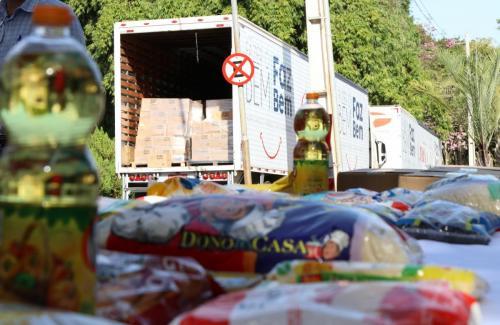 12.06.2020 - Doação alimentos e equipamentos (JBS) - Fotos: Emerson Dias