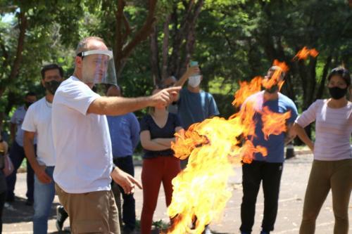 06.11.2020 - Aulas práticas dos voluntários brigadistas da Prefeitura - Fotos: Emerson Dias