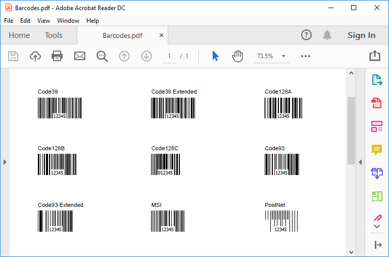 HotPDF Barcode Sample