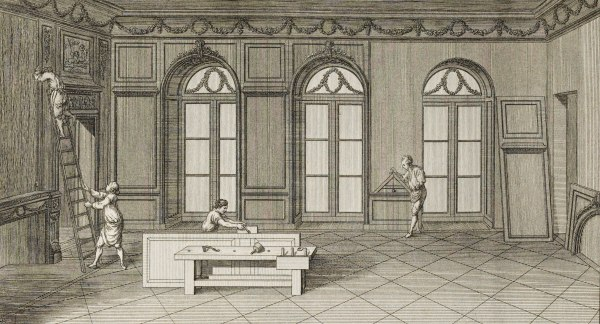 "Image: Plate 99 from ""l'Art du menuisier"""