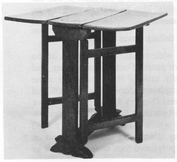 English gateleg table, circa 1640