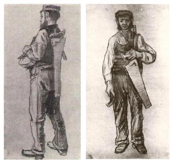 Sketches by Van Gogh, 1881-1882.