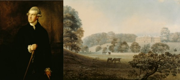 Phillip Yorke I by Gainsborough and the west fro view of Erddig