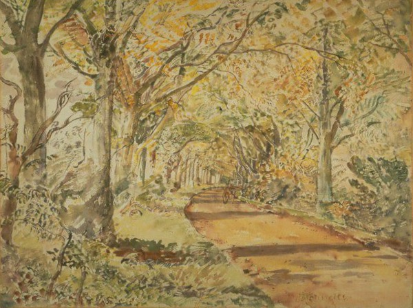 The Beech Avenue, Lasham, Hampshire, 1941.