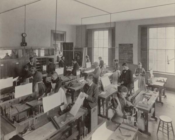 Educational Sloyd System class in Boston.