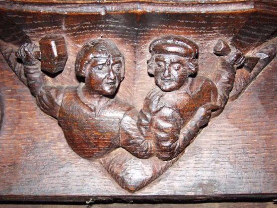 Quarreling Carvers, 1520, Beverley Minster, Great Britain