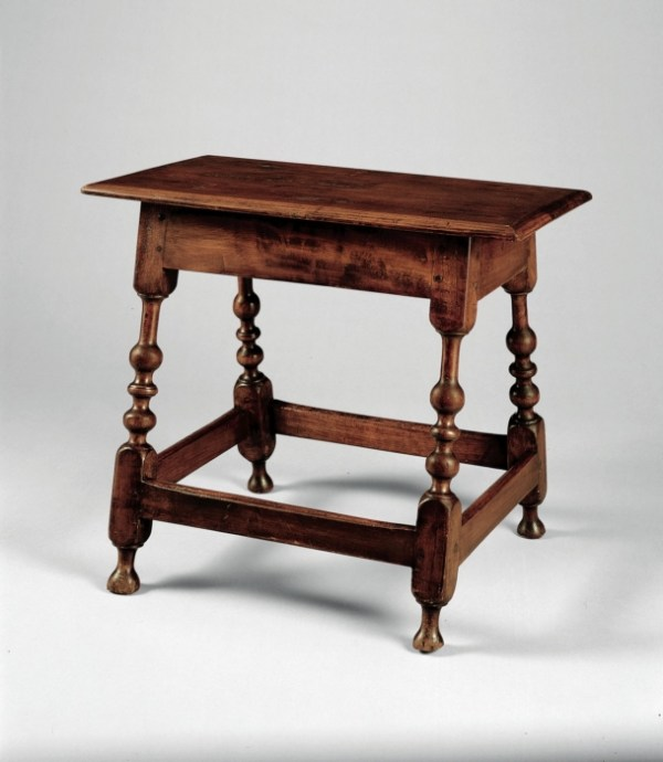 Joint Stool or Table, 1720-1750, maker unknown. Metropolital Museum of Art, New York.