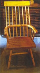 Welsh stick chair with a burr oak seat.