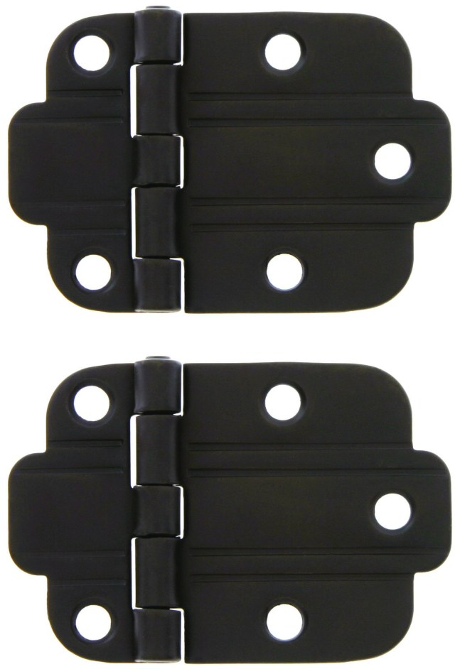 surface mount hinges in an art deco style