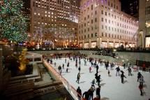 New York City Christmas Rockefeller Center Ice Skating
