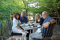 Napa Valley - Dinner al fresco at Tra Vigne in St Helena