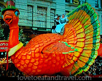 Turkey Float in Macy's Thanksgiving Day Parade, New York City