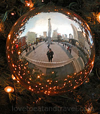 Giant Holiday Ornament at Macy's Tree Lighting in Union Square, San Francisco, CA