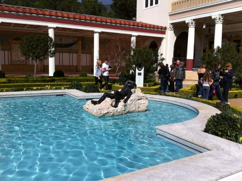 Reflecting Pool in Outer Peristyle Garden at Getty Villa Malibu