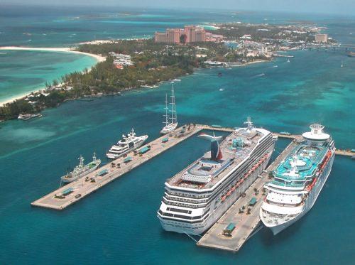 Cruise Ship in Bahamas © LoveToEatAndTravel.com