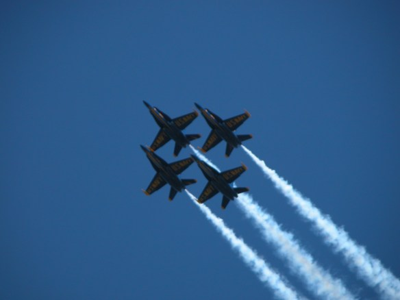 Blue Angels Air Show over San Francisco during Fleet Week SF – © LoveToEatAndTravel.com