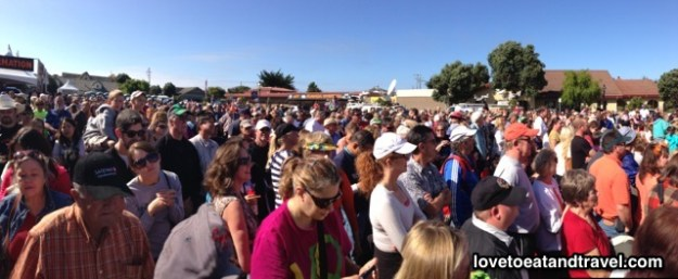 Crowds at the Half Moon Bay Pumpkin Weigh-Off Contest