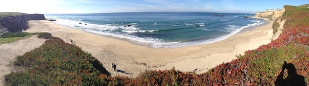 Panoramic View of Beach in Half Moon Bay, CA