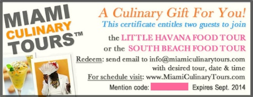Win Two Free Tickets to a Miami Food Tour – © Miami Culinary Tours