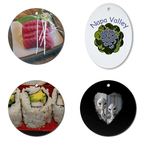 Fun Gift Ornaments (Sushi, Napa Valley and Aliens) – © LoveToEatAndTravel.com